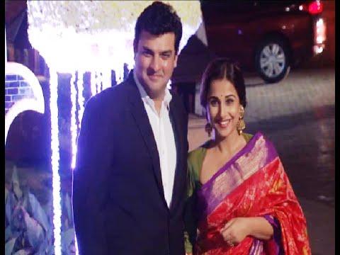 Vidya Balan at Manish Malhotra's niece Riddhi Malhotra's wedding reception.
