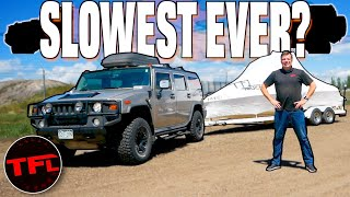 Hummer H2 Towing 0-60 MPH Test - Does it Explode?