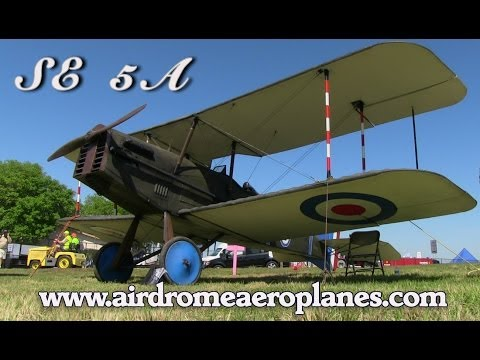 SE 5A. Airdrome Aeroplanes SE5A WWI replica fighter experimental aircraft kit