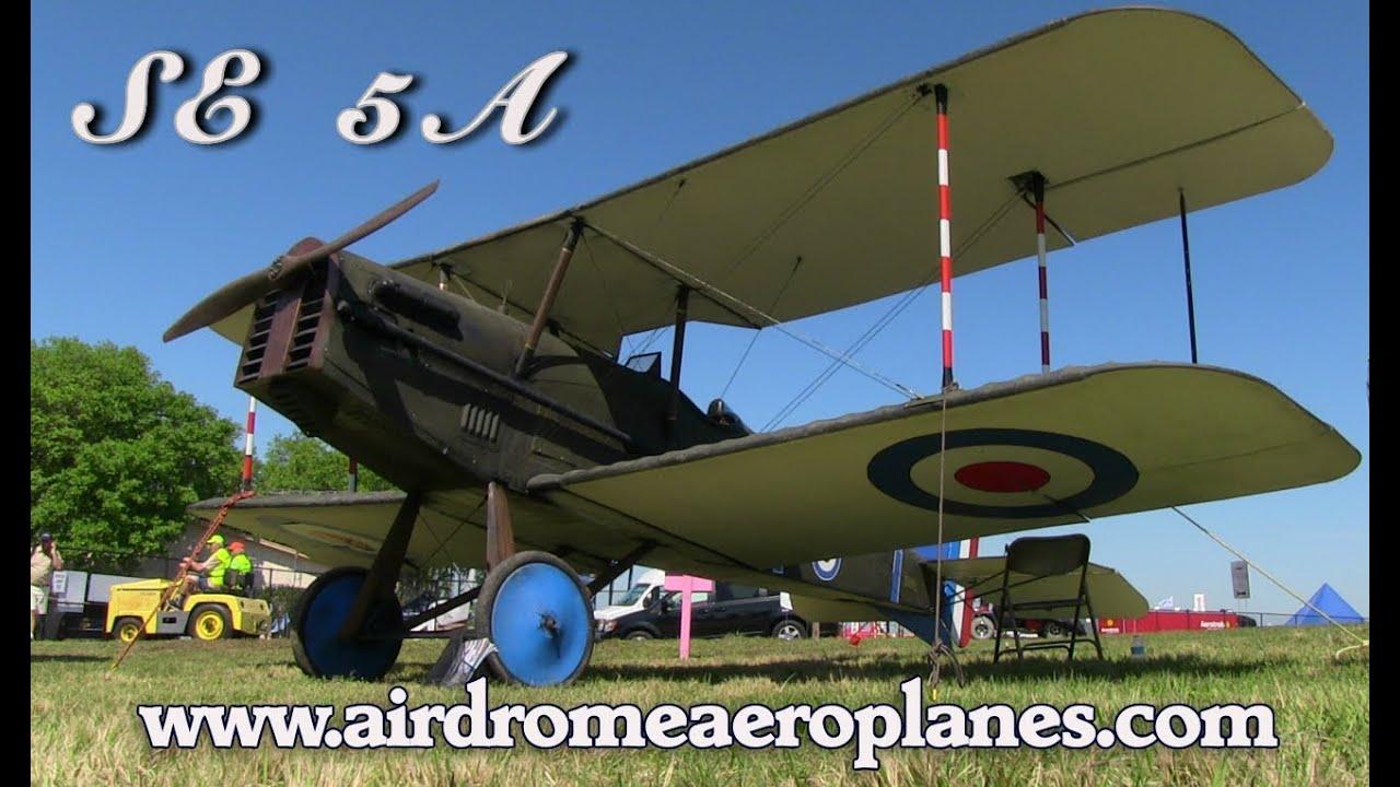 Se 5a  Airdrome Aeroplanes Se5a Wwi Replica Fighter