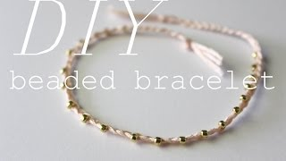 DIY Delicate Beaded Bracelet (+ packaging ideas!) | xoStellaire ☆