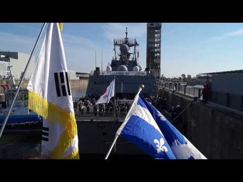 South Korean Navy Destroyer ROKS Dae Jo Yeong Berths In Old Port Of Montreal 15