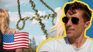 American Experiences Traditional Swedish Midsummer! 🇸🇪