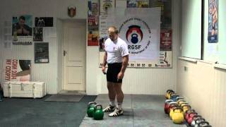 №17 Morozov Igor. Parts of Jerk. 3 - Send off. - RGSI kettlebell workout