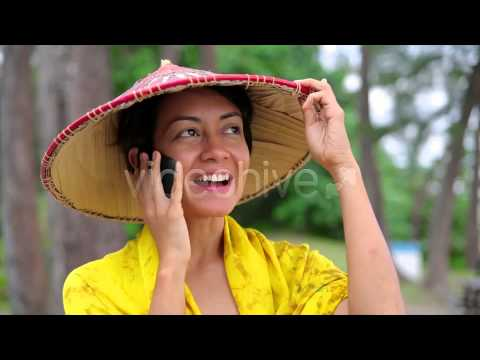 Stock Footage - Asian Woman Talking On Phone | VideoHive