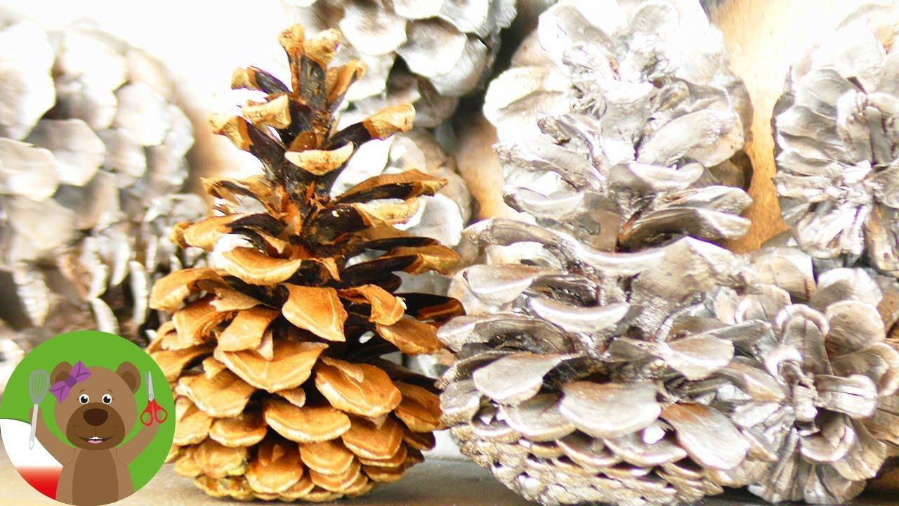 Dekoracja zimowa z szyszek | prawdziwe szyszki z lasu | pomysł na dekorację świąteczną