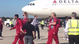 Alabama football arrives in Tampa for CFP Championship