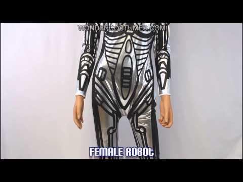 Female Robot Adult Costume