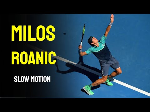 Milos Roanic Slow Motion - Cincinnati Masters 2014