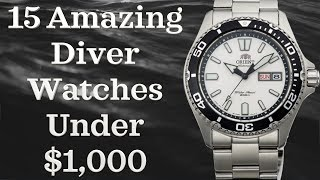 Best Diver Watches Under $1000 (Top 15 Watches)  | Best Divers 2018