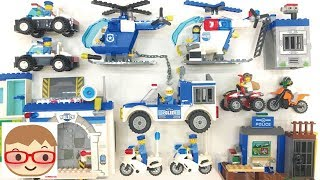 Police Car Assembly Videos for Kids | Police Station for Children | Helicopter, Motorcycle