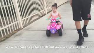 Young parents of 2 || don't bring a toddlers motorcycle for a walk *struggle