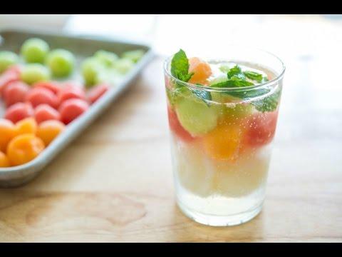 TRIPLE MELON SORBET FLOAT - Easy & Refreshing Summer Drink Recipe - Fifteen Spatulas