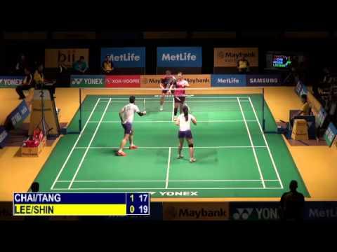 R32 - XD - Lee Y.D. / Shin S.C. vs Chai B. / Tang J.H. - 2014 Malaysia Badminton Open