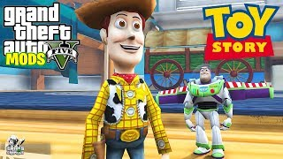 TOY STORY (WOODY & BUZZ LIGHTYEAR IN ANDY'S ROOM!!) GTA 5 MODS