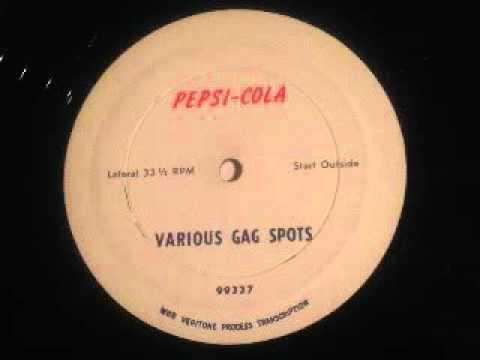 Polly Bergen Pepsi Vintage Radio Gag Spots Commercials Acetate - The Pepsi-Cola Girl