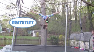 High Flying Trampoline Flips (WK 224.7) | Bratayley