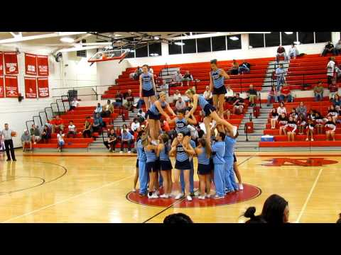 East Burke High School Cheer Stunt