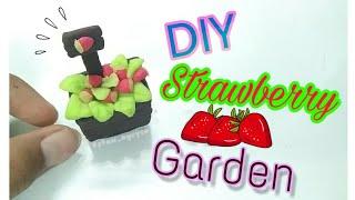 DIY Miniature | Cách làm vườn dâu tây từ đất sét Nhật | DIY strawberry garden | Staw Nguyễn Channel
