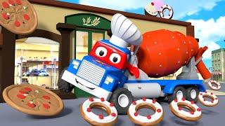 Xe Trộn Xi-măng - Siêu xe tải Carl 🚚⍟ những bộ phim hoạt hình về xe tải l Super Truck Cartoons