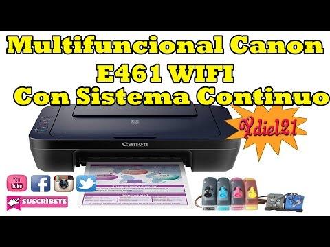 Impresora Multifuncional  Canon E461   Con Sistema de tinta Continua