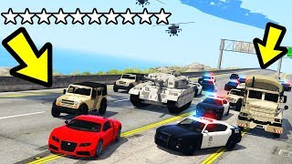 GTA 5 - 10 Star Wanted Level! (Los Santos LOCKDOWN)
