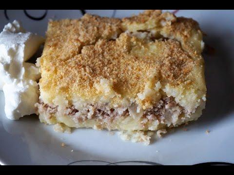 Картофельная запеканка с мясом в духовке как в детском саду/Casserole with potatoes and meat