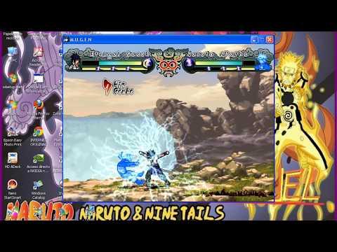Naruto vs Sasuke en Naruto ultimate ninja generaciones mugen 2012 HD