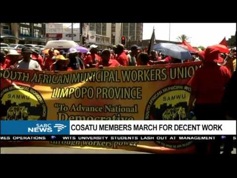 Cosatu members marched to the Premier's office in Limpopo: Michael Maringa