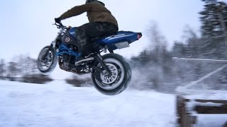 Crazy Russian Winter Stunt