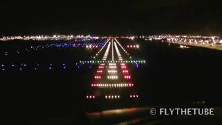 Night Approach to RWY 10 Dublin (DUB EIDW) Airport with taxi to the gate,