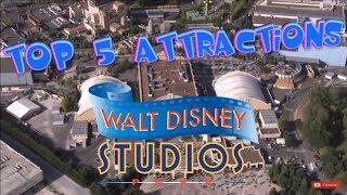Top 5 attractions Walt Disney Studios Park - Disneyland Paris