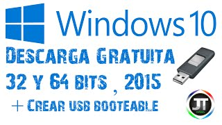 Como Descargar Windows 10 Original Gratis | x32 y x64 bits | + Crear USB booteable para Instalarlo