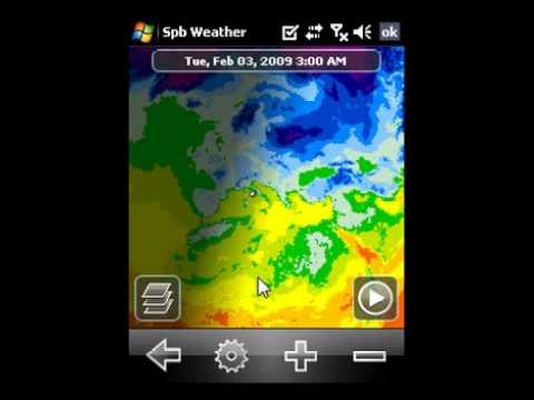 pianetaPDA.com   Windows Mobile 6.1 Professional - Spb Weather 2.0 Video Review