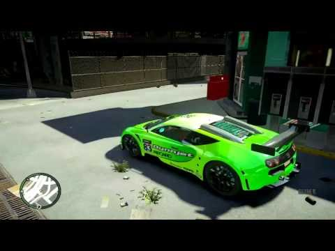 Beautiful Green Bugatti Veyron Super Sport in New York - GTA IV MOD 2013