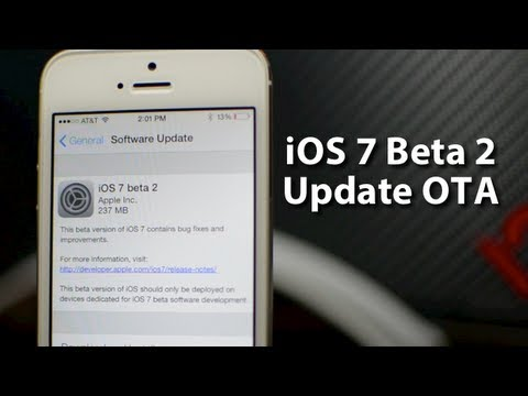 iOS 7 Beta 2 iPhone 5 Update OTA - Registered Demo