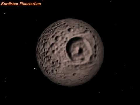 Saturn S Moon Mimas Rotation Youtube