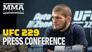 Khabib Nurmagomedov vs. Conor McGregor UFC 229 Pre-Fight Press Conference - MMA Fighting