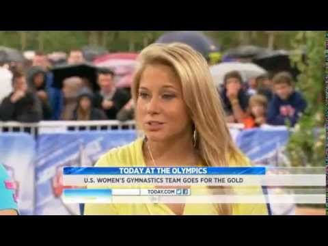 Nastia Liukin, Carly Patterson and Shawn Johnson on Today Show (London 2012)