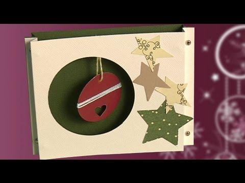 Postal con bola de navidad aprende a hacer manualidades - Postales de navidad para hacer con ninos ...