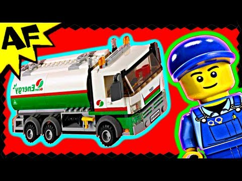 TANKER TRUCK - Lego City Set 60016 Animated Building Review