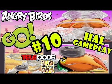 Let's Play Angry Birds Go: Pt. 10 - HAL - ehluja Stunt Gameplay - Boomerang Bird (iOS Commentary)