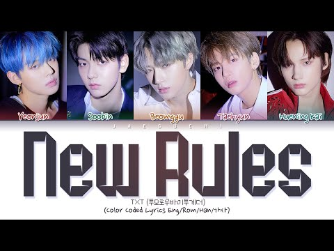 Download  TXT - New Rules Color Coded s Eng/Rom/Han/가사 Gratis, download lagu terbaru