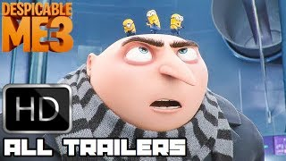 Despicable Me 3 All New Clips & Trailers (2017) Animated Movie HD