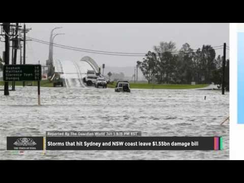 Storms That Hit Sydney and NSW Coast Leave $1.55bn Damage Bill