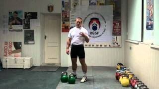№16 Morozov Igor. Parts of Jerk. 2 - First Dip - RGSI kettlebell workout