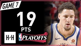 Klay Thompson Full Game 7 Highlights Warriors vs Rockets 2018 NBA Playoffs WCF - 19 Pts!