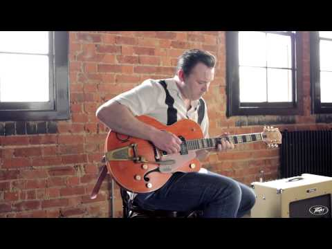 Darrel Higham on his Peavey Delta Blues amp