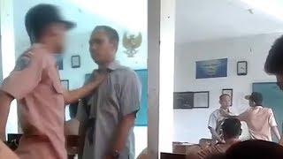 Viral, Tidak Terima Ditegur Merokok di Dalam Kelas Seorang Siswa SMP Tantang Gurunya Berkelahi  from Bangka Pos Official