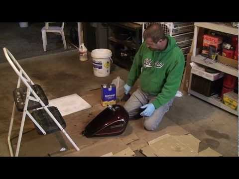 Clean and Seal your Motorcycle Gas Tank - Remove Rust and Corrosion
